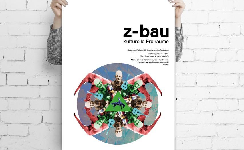 GOLDMARKE Poster für Z-Bau Wiedereröffnung