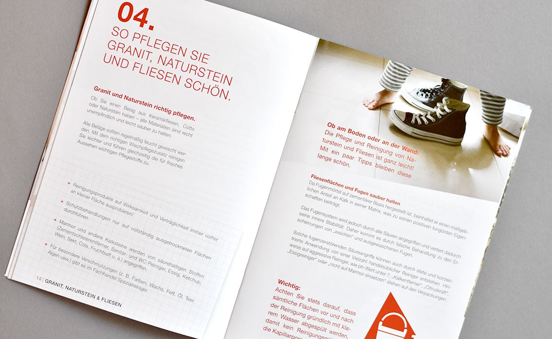 Broschüre und Design