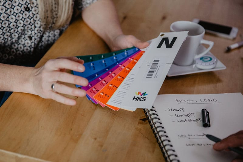 HKS Farbfächer, exklusives Design