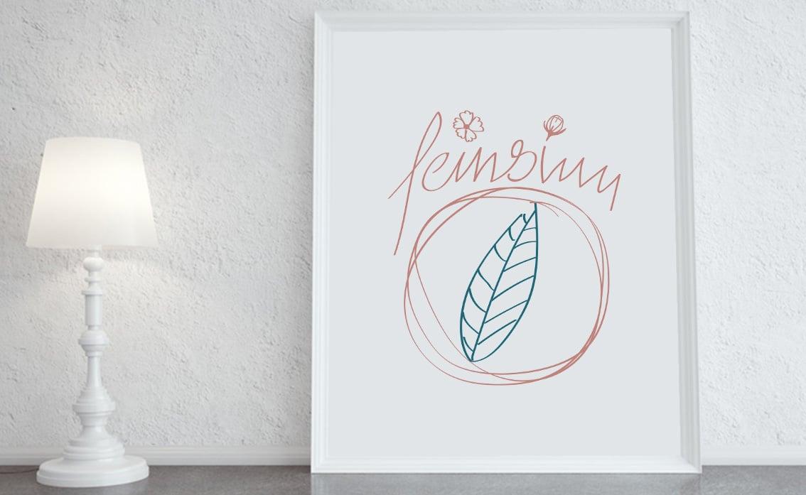 handgezeichnetes Logo handdrawn kalligrafie brush script handschrift design