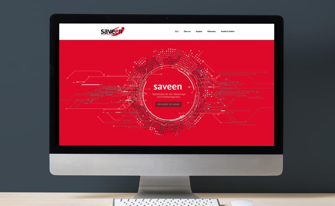 Saveen Webdesign WordPress Umsetzung
